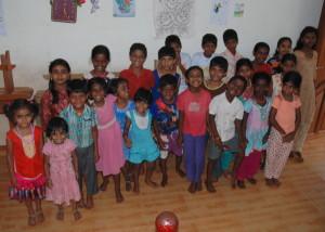 I bimbi della casa famiglia di Nisha
