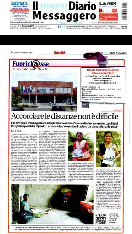 Articolo Diario Messaggero